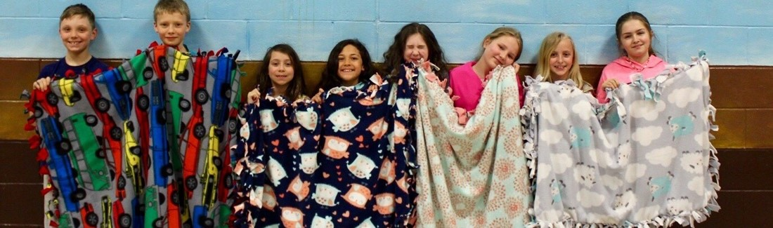 SCS Students Council made four blankets for Project Linus