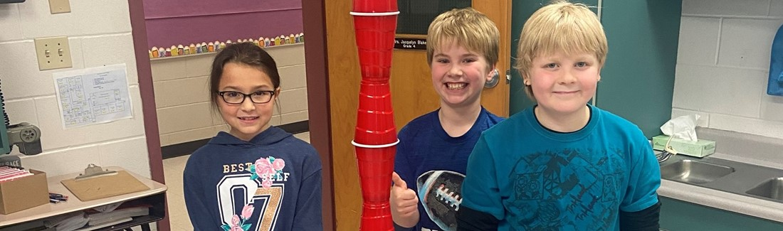 SCS 4th grade cup stacking challenge